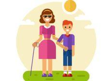 ¡Ayuda para persona con discapacidad visual!