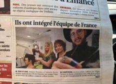 Concours et parcours avec l'équipe de France