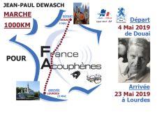 """1000km à pied pour l'association """"France acouphènes"""""""