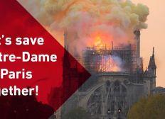 Collecte de fonds pour la sauvegarde de Notre-Dame de Paris