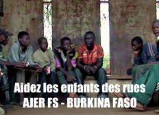 Burkina Faso : Aidez les enfants des rues