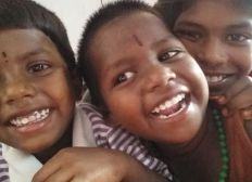 Educational materials and support for poor children in rural India
