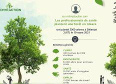 Les professionnels de la santé plantent une foret en Alsace