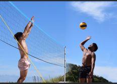 Championnat de France de beach-volley à l'île de la Réunion Ambroise et Noé