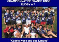 EN ROUTE POUR LES FINALES DU CHAMPIONNAT DE FRANCE DE RUGBY A 7. Lycée Tyrosse.