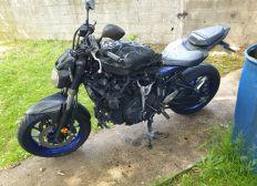 Ma moto a pris feu