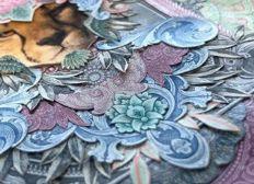 Designs aus alten Geldscheinen