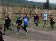WE RUN A HALF MARATHON IN KENYA RAISING MONEY FOR THE KICK OFF OF 'CHILDREN´S RUNNING CLUBS' PROJECT IN AFRICA