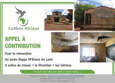 """Appel à contribution pour la rénovation du """"Lycée Hoggo M'Bouro"""" situé dans la Commune Urbaine de Labé - Guinée"""