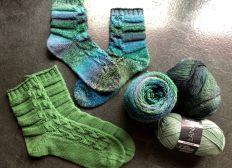 Socktober Socken für ESKD - Aktion Grüne Socken