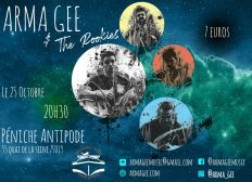 Concert Arma Gee & The Rookies - 25/10 Péniche Antipode