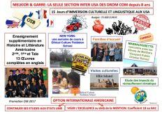 Échange scolaire pédagogique-Section Internationale Américaine du Lycée Melkior (Guyane Française)
