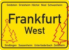 Weihnachtsbäume für den Dalbergkreisel in Frankfurt-Höchst