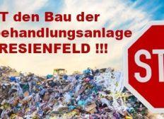 """Unterstützung für Bürgerinitiative """"Stoppt den Bau der Abfallverwertungsanlage Theresienfeld"""""""