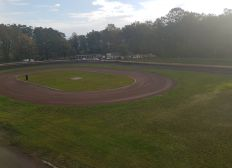 Flutlichtmast für die Kinderbahn Speedway