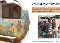 Dons pour l'envoi des jouets et vêtenements récolté pour les enfants au Bénin