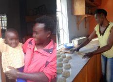Unterstütze geflohene Frauen häuslicher Gewalt aus Kenia bei ihrer Ausbildung