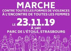 Marche contre toutes les formes de violences à l'encontre de toutes les femmes - STRASBOURG
