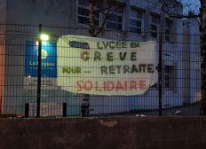 Personnel du lycée de Vizille pour une retraite solidaire