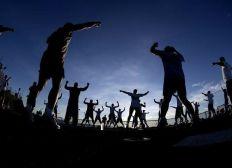 Sportprojekt mit Flüchtlingen auf Lesvos, Griechenland