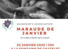 Maraude Du 25 Janvier 2020 avec Kalkidan's Association