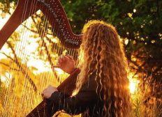 Une harpe celtique pour Simon