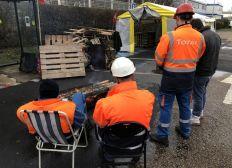 Soutient aux grévistes de la raffinerie de Grandpuits