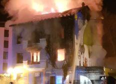 Maison brûler