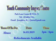 HELP BRADFORD YOUTH OUT OF GANGS AND STREET VIOLENCE