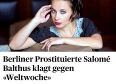Salomé Balthus gegen die WELTWOCHE