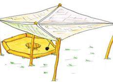 Sonnensegel für unser grünes Klassenzimmer