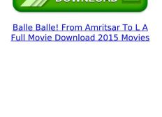 Balle Balle! From Amritsar To L A 3 Full Hd 1080p Movie