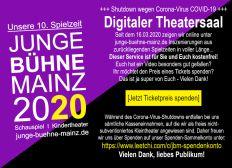 Junge Bühne Mainz: Spendenkonto Corona-Shutdown