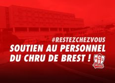 Soutien au personnel hospitalier du CHRU de Brest.