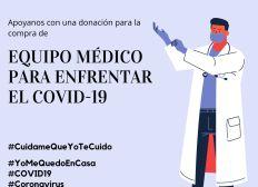 Equipo médico para enfrentar el coronavirus