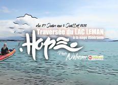 Hope : Traversée du lac Léman à la nage pour Noham