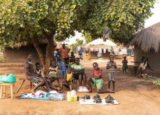 Digital learning for youth scholars at Bidi Bidi refugee settlement