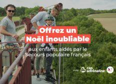 Offrez un Noël magique aux enfants - Cap Adrénaline avec le Secours populaire français