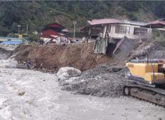 Flood destruction at Talamarang School, NEPAL