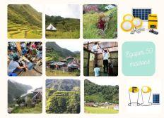 Equiper 50 familles avec des kits solaires dans le village de Batad, Philippines