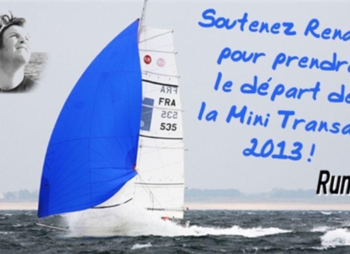 Renaud sur la Mini Transat 2013