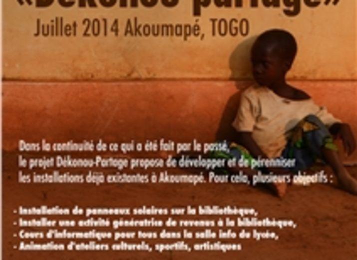 Projet Dékonou-Partage 2014