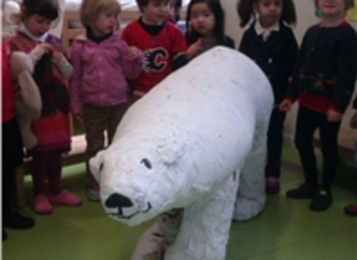 Living School adopte un ours polaire avec le WWF