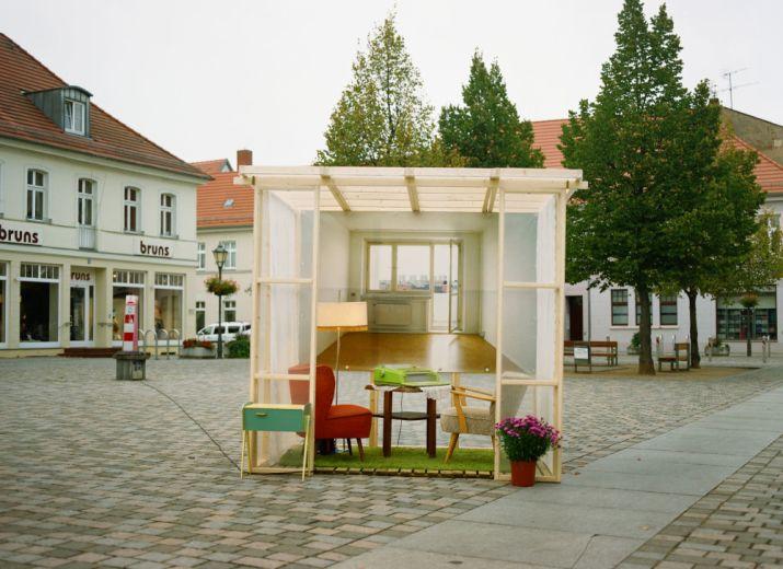 """""""Raum für Gedanken"""" - partizipative Kunstinstallation von Kathrin Ollroge in der HU, Berlin"""
