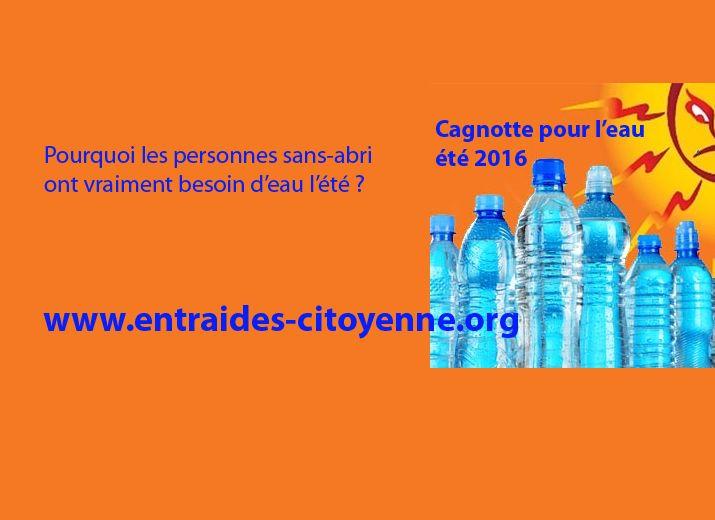 Appel à l'eau 2016 pour les sans-abris