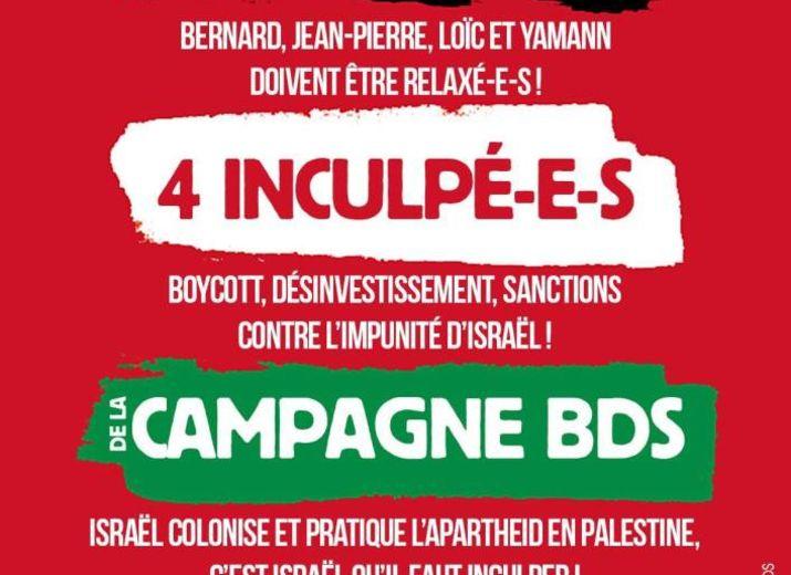 Soutien aux 4 inculpéEs de la campagne BDS à Toulouse