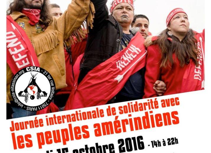 Cagnotte de soutien pour l'organisation de la 36e édition de la Journée internationale de solidarité avec les peuples amérindiens (CSIA/Paris/15 octobre 2016)