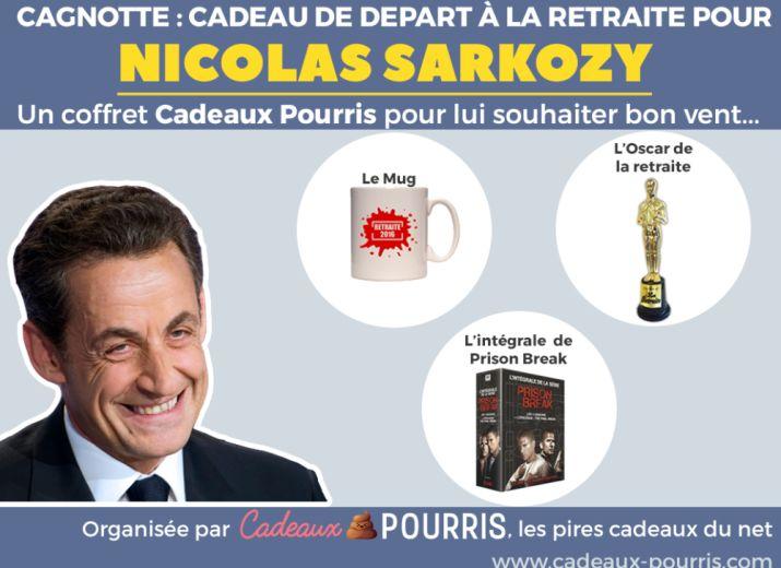 Cadeaux de départ à la retraite pour Nicolas Sarkozy | Cadeaux-Pourris.com