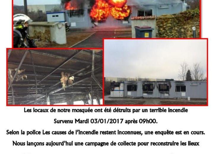 soutien à la mosquée incendiée