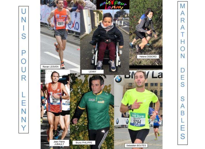 Unis Pour Lenny avec le Marathon des Sables